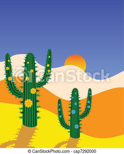 cactus in desert - csp7292000