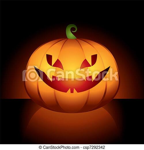 Illustrazioni vettoriali di halloween zucca stilizzato for Zucca di halloween disegno