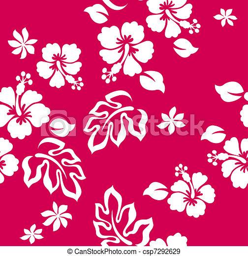 hibiscus flower print - csp7292629