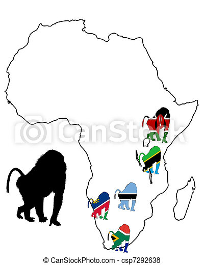 Baboon range map - csp7292638