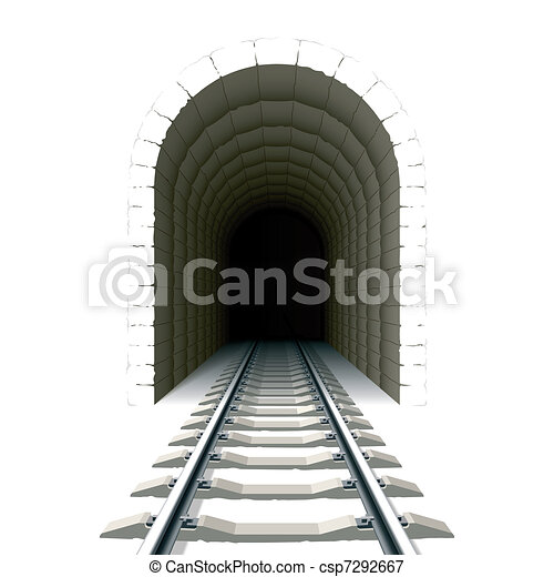 Entrance to railway tunnel - csp7292667