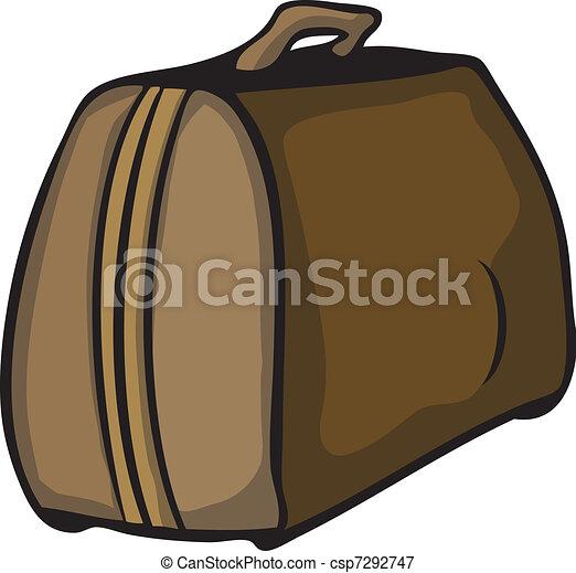 Vectors Illustration of Vector travelling bag - Vector hand drawn ...