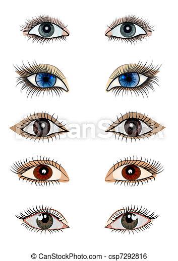 kit opened feminine eye - csp7292816