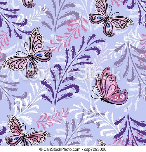 Gentle violet seamless floral pattern - csp7293020