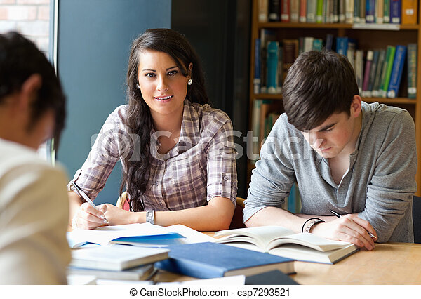 Young adults studying - csp7293521