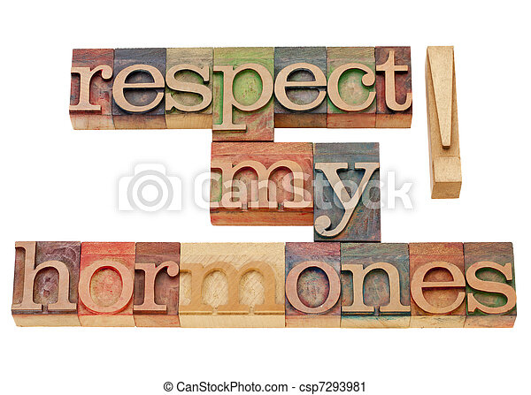 respect my hormones - csp7293981