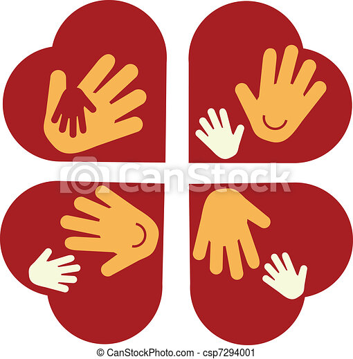 heart with Child's Hands and Adult Hands - csp7294001