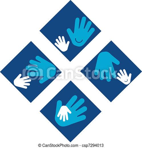 Child\'s Hands and Adult Hands - csp7294013