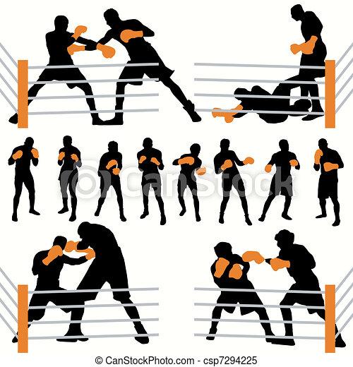 Boxers Silhouettes Set - csp7294225