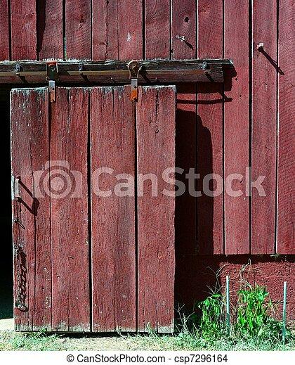 Red Barn Door Clip Art stock photo of barn door - an old barn door reveals the texture of
