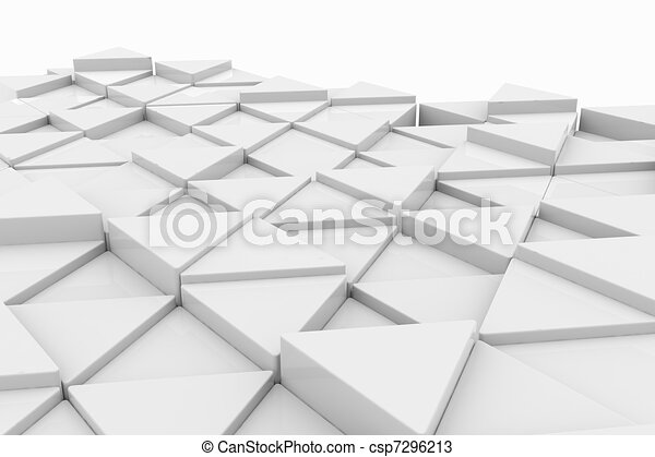 White triangle. Background. - csp7296213