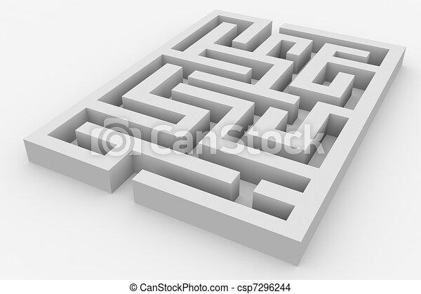 3d Maze Drawing 3d Maze Csp7296244