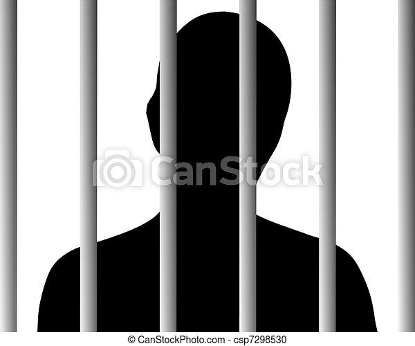 Human behind bars - csp7298530