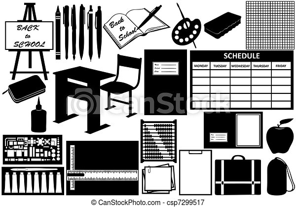 Different objects for school - csp7299517