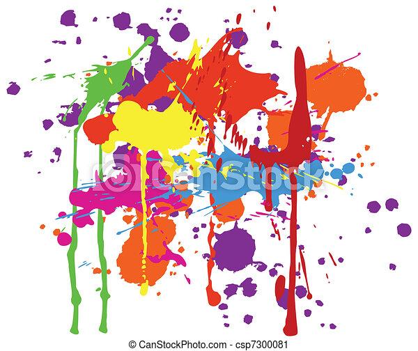 ink splats - csp7300081