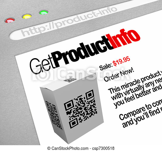 QR Code - Web Screen Website of Product Information - csp7300518