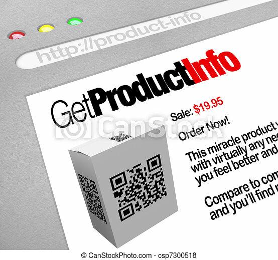 QR Code - Web Screen Website of Product Information - csp7300518