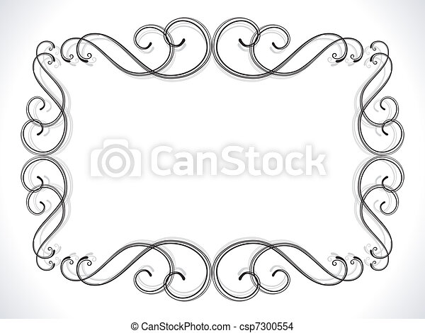 abstract floral ornamental border - csp7300554