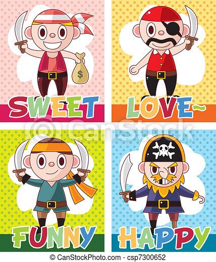 cartoon pirate card - csp7300652