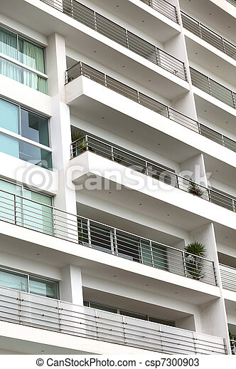 Stock photos of detail of a modern multi storey apartment for Multi storey apartment modern design