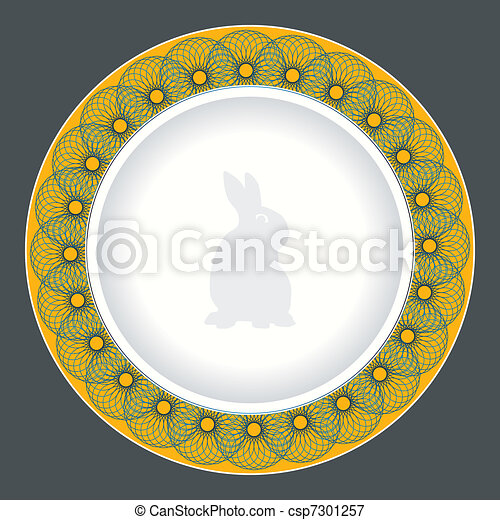Vectors Illustration Of Dinner Plate Design Csp7301257 Search Clipart Illustration Drawings