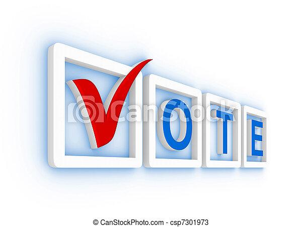 Vote with check mark - csp7301973