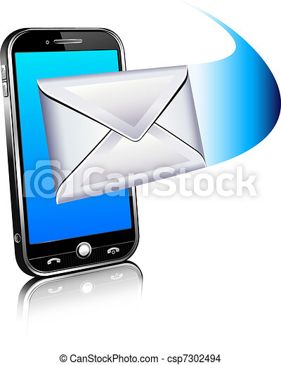 Send a letter icon - mobile phone - csp7302494