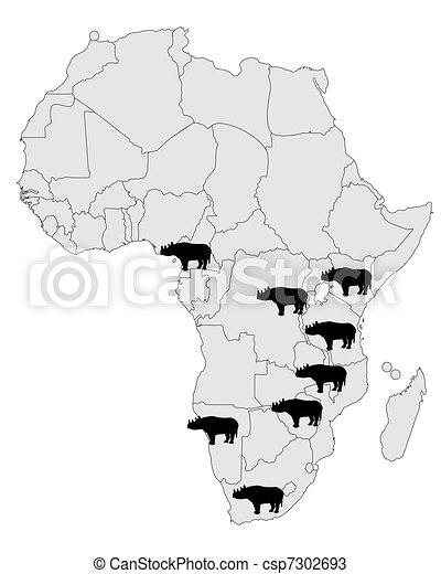 Rhinoceros range - csp7302693