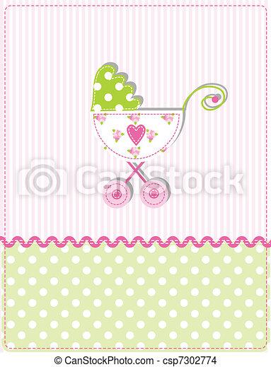 Baby shower card - csp7302774