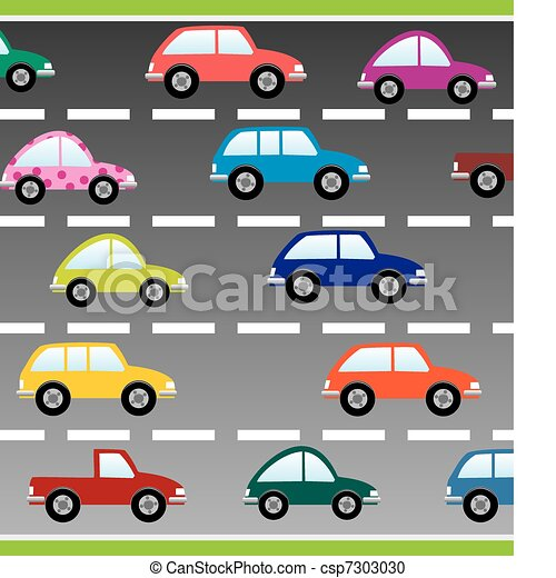 cars on the road - csp7303030
