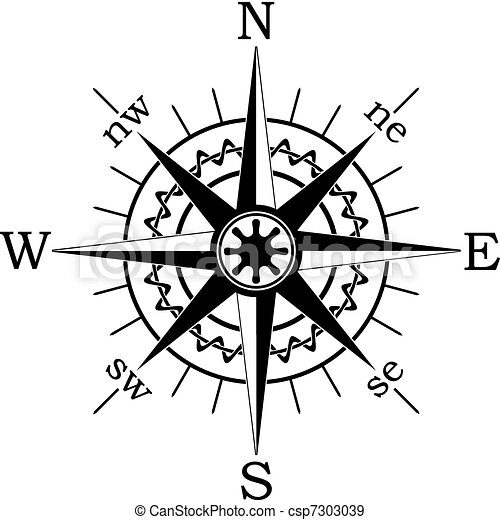 Compass Illustrations and Clip Art. 6,928 Compass royalty free ...