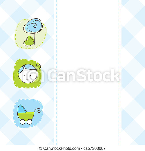 Baby shower card - csp7303087