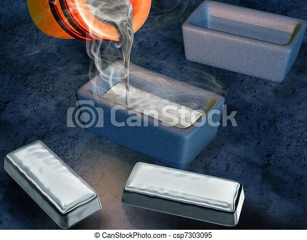 Silver ingot casting - csp7303095