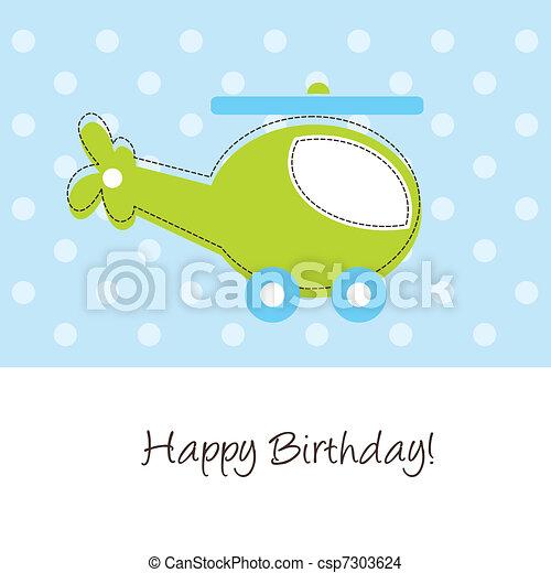 Happy birthday card - csp7303624