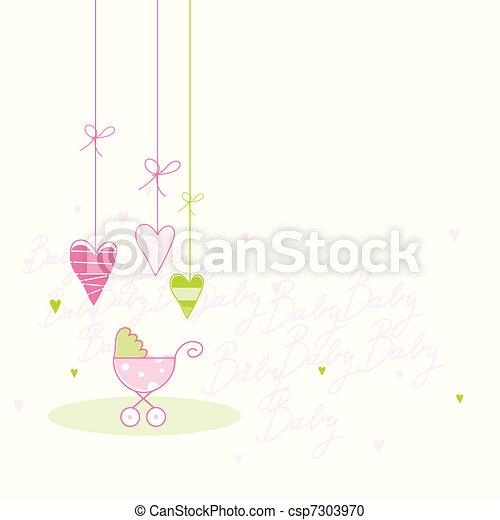 Baby shower card - csp7303970