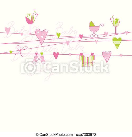 Baby shower card - csp7303972