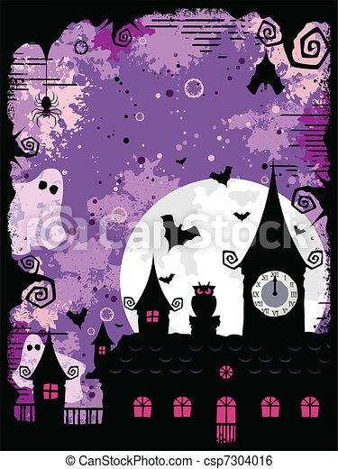 Spooky Halloween Design - csp7304016