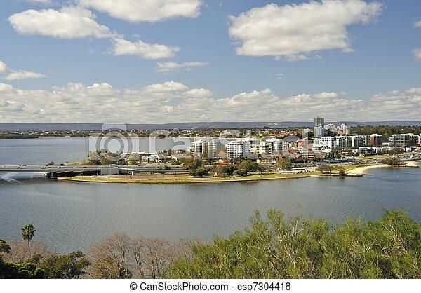 View of Perth Australia - csp7304418