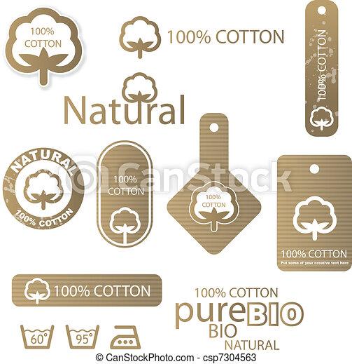 Cotton labels - csp7304563