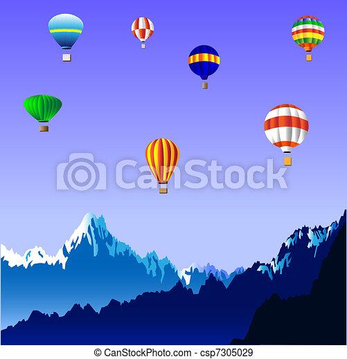 Hot air balloons - csp7305029