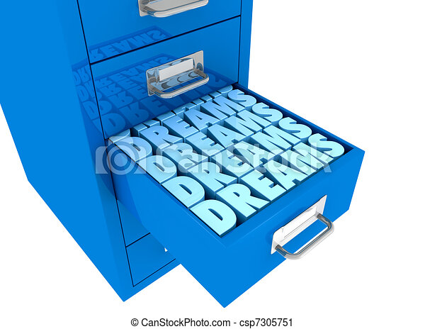 dreams in the drawer - csp7305751