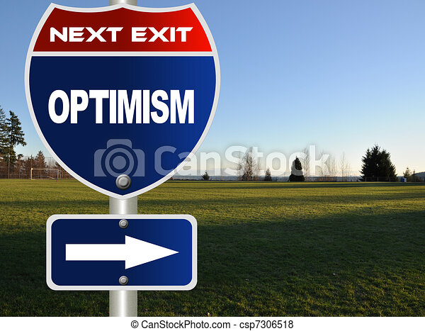 Optimism road sign  - csp7306518