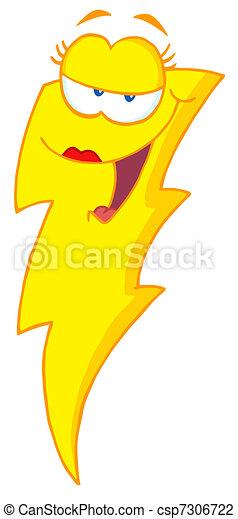 Female Lightning Bolt - csp7306722