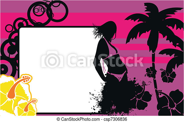 tropical hawaii girl background5 - csp7306836