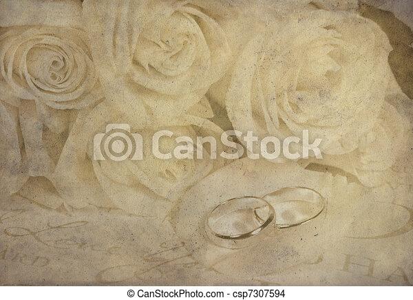 old-fashioned wedding - csp7307594
