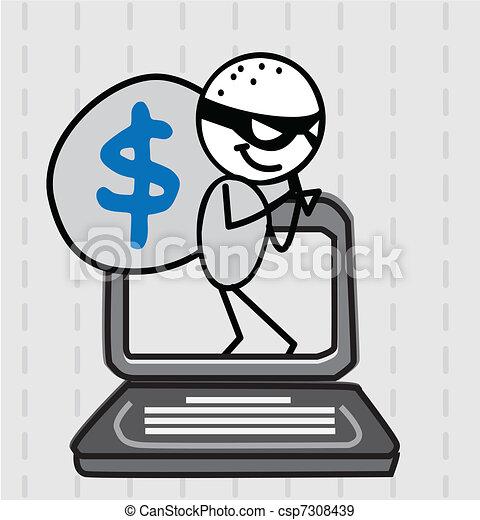 hacker thief Vector  - csp7308439