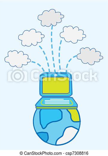 Global Data cloud computing  - csp7308816