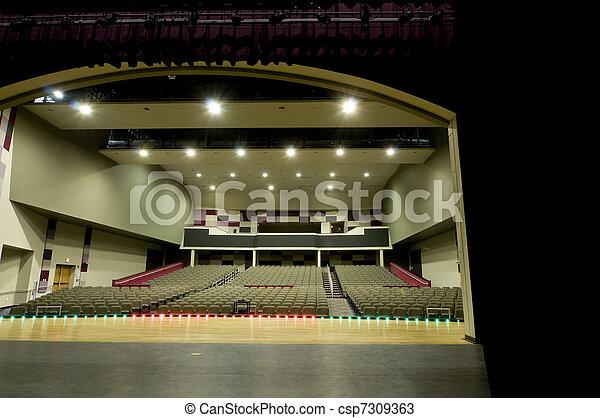 Stock Photos of Auditorium at High School csp7309363 ...