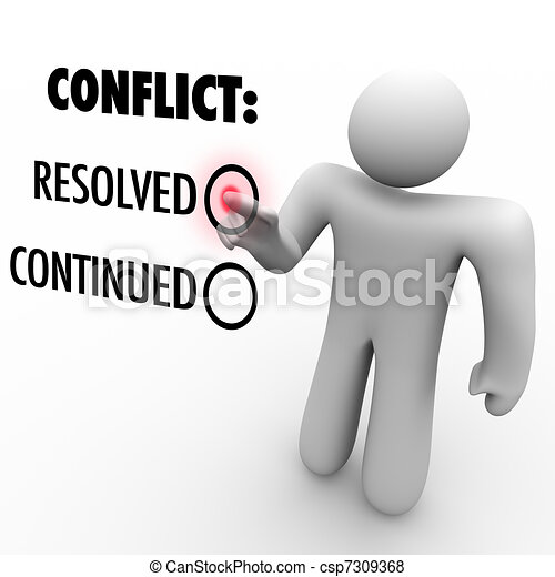 Choose to Resolve or Continue Conflicts - Conflict Resolution - csp7309368