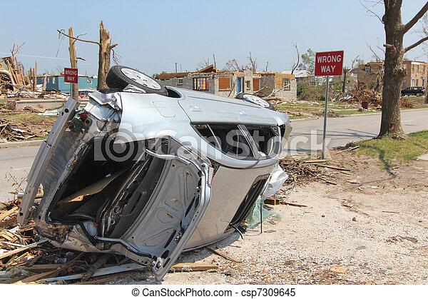 Wrong Way Car - EF5 Tornado - csp7309645